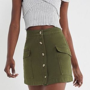 BDG Skirts - BDG olive denim button skirt